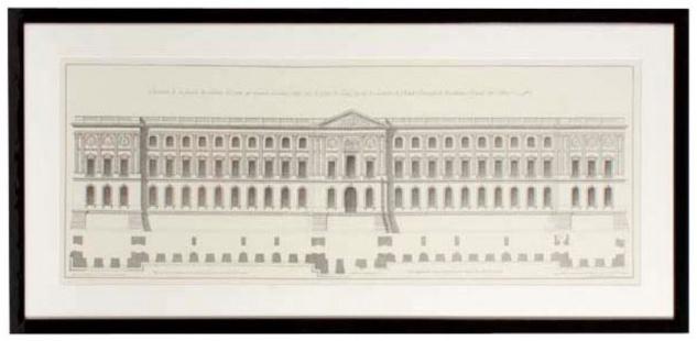 Casa Padrino Bilder / Kunstdruck Set Fassade vom Louvre Mehrfarbig 109 x H. 52 cm - Luxus Wohnzimmer Dekoration - Vorschau 2
