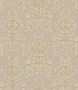 Casa Padrino Barock Textiltapete Beige / Creme / Grau 10, 05 x 0, 53 m - Tapete im Barockstil
