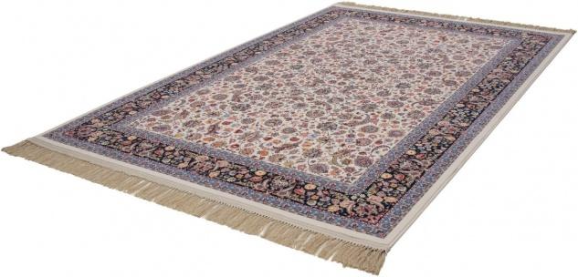 Casa Padrino Luxus Teppich mit Fransen Elfenbeinfarben - Verschiedene Größen - Gemusterter Wohnzimmer Teppich - Deko Accessoires - Vorschau 2