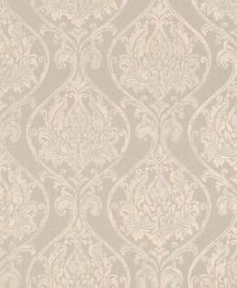 Casa Padrino Barock Wohnzimmer Tapete Creme / Beige 10, 05 x 0, 53 m - Hochwertige Textiltapete im Barockstil