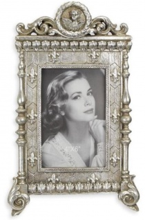 Casa Padrino Barock Bilderrahmen Antik Silber 18, 8 x H. 30 cm - Antik Stil Bilderrahmen - Deko Accessoires im Barockstil
