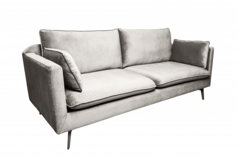 Casa Padrino Designer Wohnzimmer Sofa Silbergrau 210 x 85 x H. 90 cm - Designer Möbel