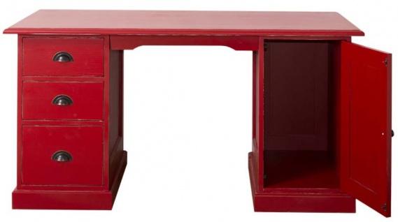 Casa Padrino Landhausstil Schreibtisch Antik Stil Rot 152 x 70 x H. 78 cm - Landhausstil Büromöbel - Vorschau 2