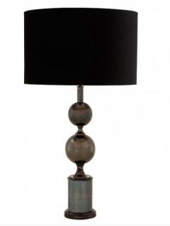 Luxus Tischleuchte von Casa Padrino Schwarz / Bronze Finish ModE1- Leuchte Lampe