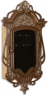 Casa Padrino Jugendstil Schlüsselkasten Antik Braun 26, 4 x 7, 8 x H. 46, 5 cm - Deko Accessoires