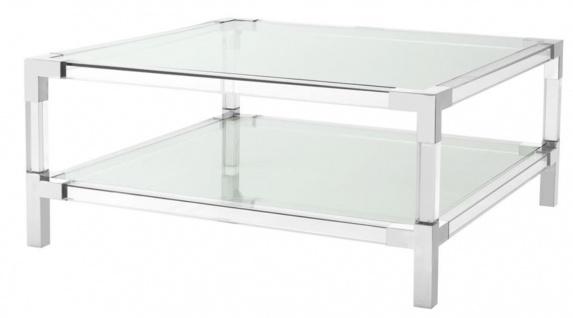 Casa Padrino Couchtisch 100 x 100 x H. 45 cm - Luxus Designer Möbel