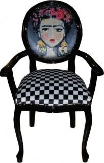 Casa Padrino Barock Luxus Damen Stuhl Mädchen mit Blumen-Kranz auf den Kopf - Limited Edition