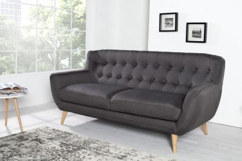 Chesterfield 3er Sofa grau aus dem Hause Casa Padrino - Wohnzimmer Möbel - Couch