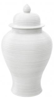 Casa Padrino Luxus Porzellan Krug mit Deckel Weiß Ø 25 x H. 45 cm - Hotel & Restaurant Dekoration