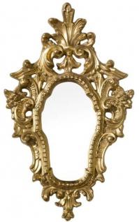 Casa Padrino Luxus Barock Spiegel Gold 39 x 3 x H. 64 cm - Wandspiegel im Barockstil - Edel & Prunkvoll