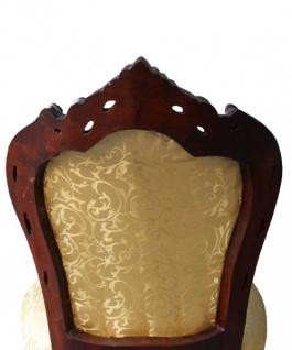 Casa Padrino Barock Esszimmer Stuhl Gold Muster / Braun - Barock Möbel Antik Stil - Vorschau 2