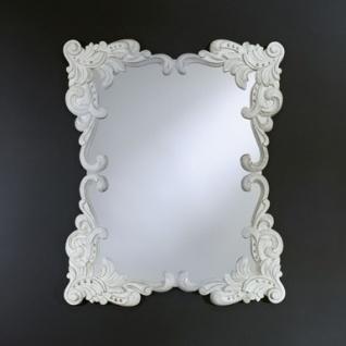 Casa Padrino Barock Wandspiegel Antik Stil Weiß 92 x 110 cm - Barocker Spiegel Antikweiß - Vorschau 1