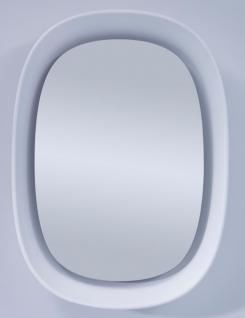 Casa Padrino Luxus Designer Spiegel Weiß 70 x H. 97 cm - Designer Wandspiegel mit Licht