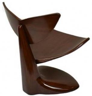 Casa Padrino Designer Mahagoni Stuhl Dunkelbraun 83 x 68 x H. 87 cm - Designermöbel - Luxus Qualität - Vorschau 3