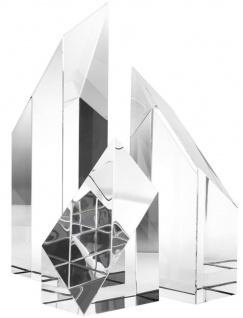 Casa Padrino Luxus Kristallglas Deko Objekte 3er Set - Hotel Restaurant Wohnzimmer Büro Dekoration - Vorschau 2