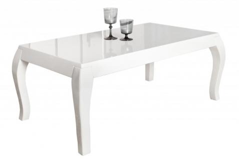 Casa Padrino Beistelltisch Weiss - Hochglanz (110x45x60cm) Couchtisch Wohnzimmer Tisch