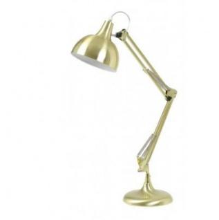Casa Padrino Tischleuchte Matt Gold 20 x H 68 cm - Leuchte - Schreibtischleuchte - Büroleuchte
