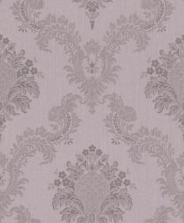 Casa Padrino Barock Textiltapete Flieder / Grau 10, 05 x 0, 53 m - Hochwertige Wohnzimmer Tapete im Barockstil