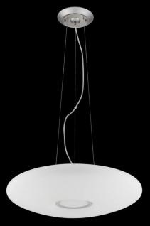 Casa Padrino Luxus Hängeleuchte Weiß / Silber Ø 40 x H. 10 cm - Wohnzimmer Hängelampe - Vorschau 3