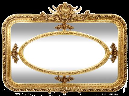 Casa Padrino Barock Wandspiegel Gold 160 x H. 110 cm - Rechteckiger handgefertigter Spiegel mit Verzierungen - Edel & Prunkvoll