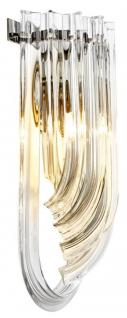 Casa Padrino Luxus Hotel Restaurant Wandlampe 18 x 10 x H. 40 cm - Limited Edition