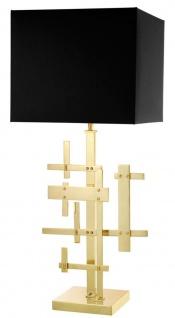 Casa Padrino Designer Hotel Tischlampe Gold - Luxus Wohnzimmer Tischleuchte