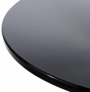Designer Beistell Tisch aus dem Hause Casa Padrino ABS Höhe 60 cm, Tisch Durchmesser 60 cm Schwarz - Cafe Messe Hotel Praxis Kanzlei Einrichtung Beistelltisch - Vorschau 2
