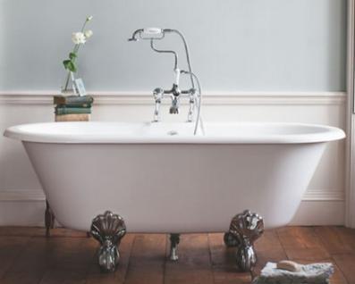 Casa Padrino Jugendstil Badewanne Naturstein freistehend 1700mm BBlan Weiß - Freistehende Retro Antik Badewanne