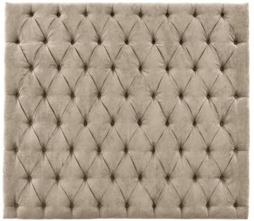 Casa Padrino Luxus Chesterfield Bett-Kopfteil Greige 180 x 10 x H. 160 cm - Schlafzimmermöbel