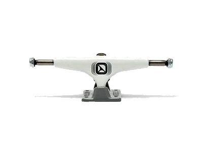 Crail Skateboard Achsen Set 129 LOW LIGHT weiß/grau (2 Achsen)