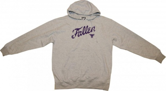 Fallen Skateboard Pullover Hooded Grey/Purple Sweater