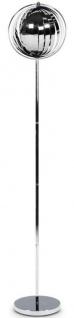 Casa Padrino Stehleuchte Silber / Silber Ø 31 x H. 160 cm - Designer Lampe