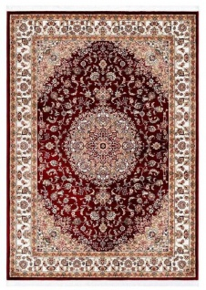 Casa Padrino Teppich mit orientalischen Ornamenten Rot / Mehrfarbig - Verschiedene Größen - Wohnzimmer Teppich