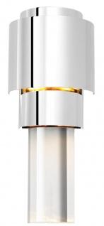Casa Padrino Wohnzimmer Wandlampe Silber 15 x 10 x H. 37 cm - Luxus Qualität