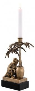 Casa Padrino Luxus Kerzenhalter Affe und Palme Vintage Messing / Schwarz 20 x 15 x H. 30 cm - Deko Accessoires - Vorschau 2