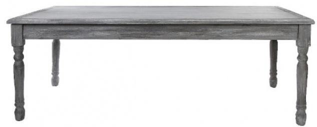 Casa Padrino Landhausstil Shabby Chic Esstisch Antik Grau / Antik Weiß 210 x 110 x H. 80 cm - Handgefertigter Landhausstil Küchentisch