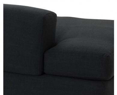 Casa Padrino Designer Sofa Schwarz Rechtsseitig 231 x 101 x H. 85 cm - Luxus Wohnzimmer Möbel - Vorschau 4