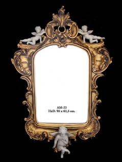 Casa Padrino Barock Wandspiegel Gold Engel B 63.5 x H 95 cm - Edel & Prunkvoll