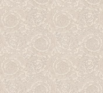 Versace Designer Barock Vliestapete Barocco Flowers 935835 Beige / Creme / Grau - Design Tapete - Deko Accessoires