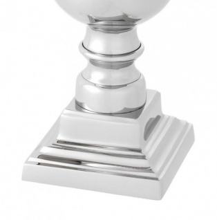 Casa Padrino Luxus Tischleuchte Nickel - Luxus Leuchte - Vorschau 4