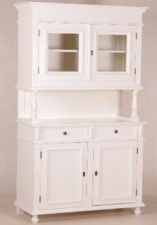Casa Padrino Shabby Chic Landhaus Stil Schrank Buffetschrank Weiß - Schrank Esszimmer