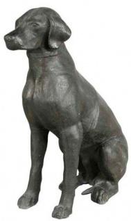 Casa Padrino Luxus Bronzefigur Labrador Antik Bronze 28 x 57 x H. 70 cm - Hotel Dekoration