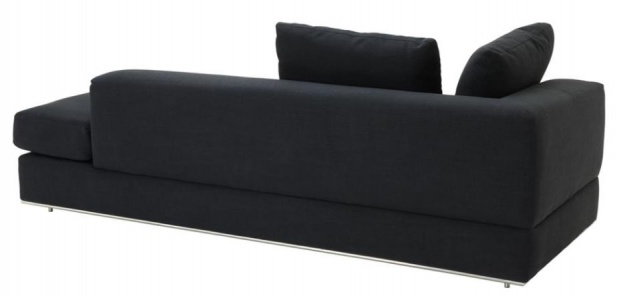 Casa Padrino Designer Sofa Schwarz Linksseitig 231 x 101 x H. 85 cm - Luxus Wohnzimmer Möbel - Vorschau 2