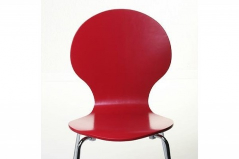 Casa Padrino Designer Stuhl Form Rot 12 - Vorschau 3