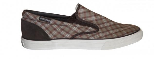 Converse Skateboard Schuhe Skid Brown/Plaid Grip Ev Slip On Brown/Plaid Skid Shoes Beliebte Schuhe d6b984