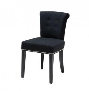 Casa Padrino Luxus Esszimmer Stuhl Schwarz - Luxus Qualität