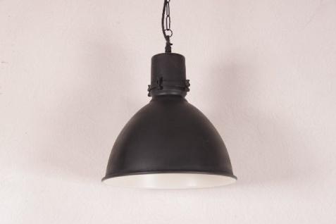 Casa Padrino Hängeleuchte Deckenleuchte Antik Stil Schwarz Industrial Vintage Design 40cm Durchmesser - Industrie Lampe Hänge Leuchte