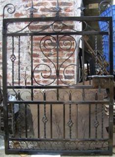 Casa Padrino Jugendstil Eingangstor Antik Schwarz 111 x H. 159, 5 cm - Gartentor - Metalltor - Barock & Jugendstil Garten Accessoires