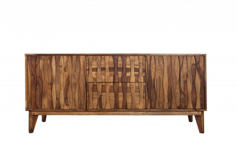 Casa Padrino Luxus Sideboard B.160 x H.70 x T.45 - Fernsehschrank - Handgefertigt aus Massivholz!