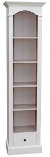 Casa Padrino Landhausstil Regalschrank Weiß 50 x 33 x H. 190 cm - Landhausstil Kollektion